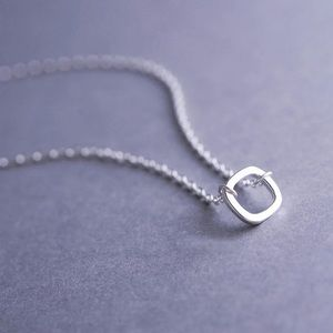 925 sterling silver square necklace